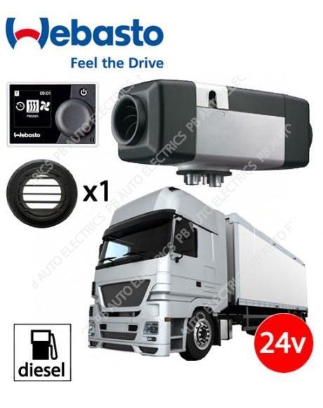 Webasto Air Top Evo 55 Universal Heater Kit Diesel 24v HD MultiControl & 1 Outlet Ducting Kit – 4111390B/MC
