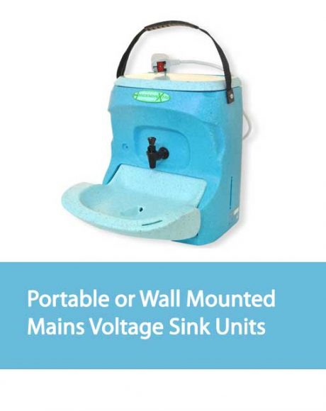 Portable or Wall Mounted Mains Voltage Sink Units