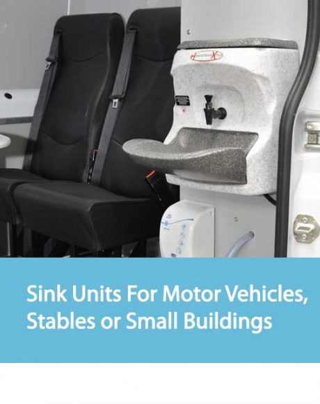 Sink Units For Motor Vehicles, Stables or Small Buildings