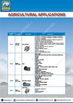 Prestolite Agricultural Application Catalogue