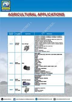 Prestolite Agricultural Application Catalogue