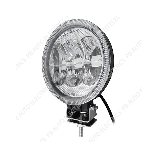 LED Autolamps 7 inch Round LED Driving Lamp - 1786SBM
