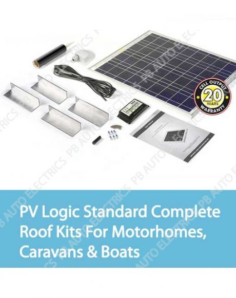 Solar Technology PV Logic Standard Complete Roof Kits For Motorhomes, Caravans & Boats