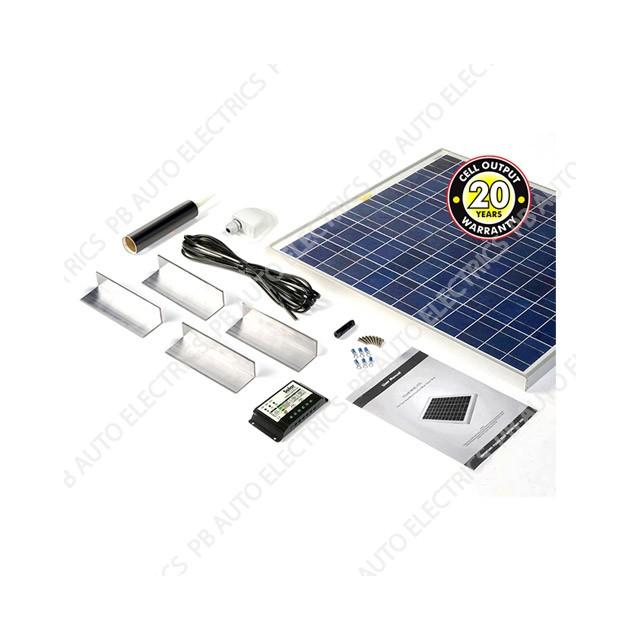Solar Technology 100 Watt Solar Panel STANDARD Roof Top Kit For Motorhomes Caravans Boats - STPMH100
