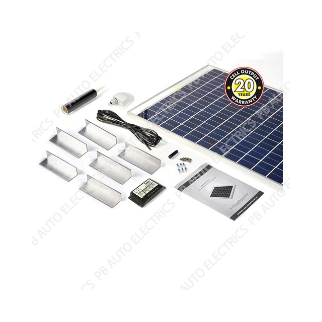 Solar Technology 120 Watt Solar Panel STANDARD Roof Top Kit For Motorhomes Caravans Boats - STPMH120