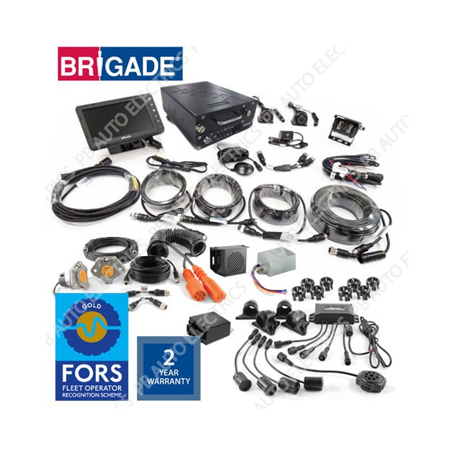 Brigade FORS Gold Tractor Unit & Trailer Four Camera Recording System With Sidescan To Tractor Unit Only - BT8