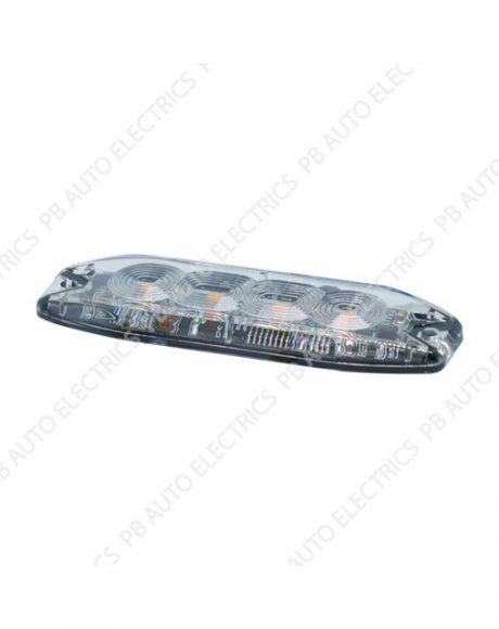LAP Surface Mount Amber LED Module Light 12-24v 21 Flash Patterns - TLED4A