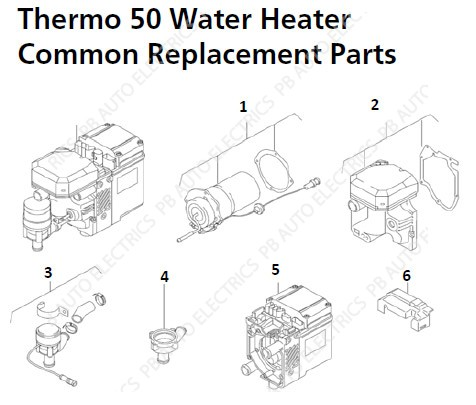 Thermo 50 Common Replacement Parts