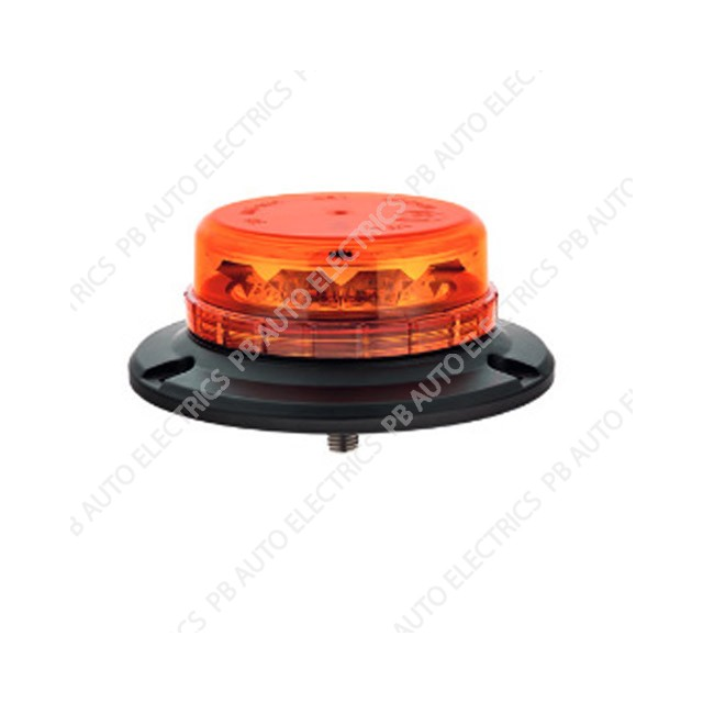 LAP LED Low Profile Amber Lens Beacon 1 Point 12/24v (ECE R65) - LPB060