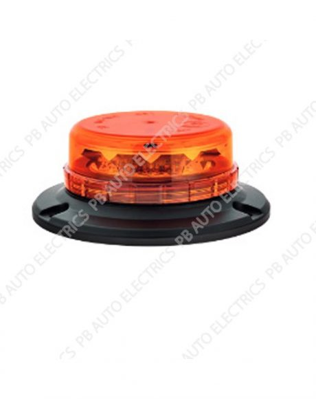 LAP LED Low Profile Amber Lens Beacon 3 Point 12/24v (ECE R65) - LPB050