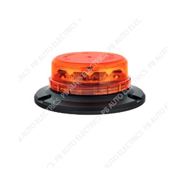 LAP LED Low Profile Amber Lens Beacon 3 Point 12/24v (ECE R65) - LPB050