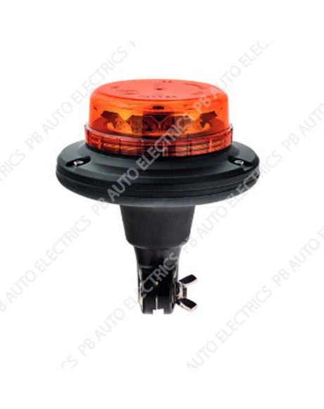LAP LED Low Profile Amber Lens Beacon Flexi-DIN 12/24v (ECE R65) - LPB040