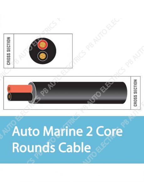 Auto Marine 2 Core Rounds Cable
