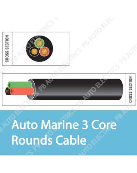 Auto Marine 3 Core Rounds Cable