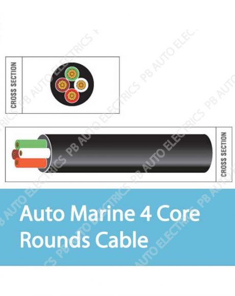 Auto Marine 4 Core Rounds Cable