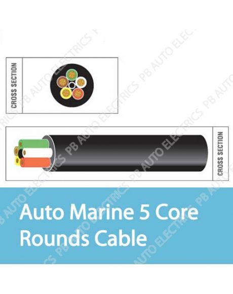 Auto Marine 5 Core Rounds Cable
