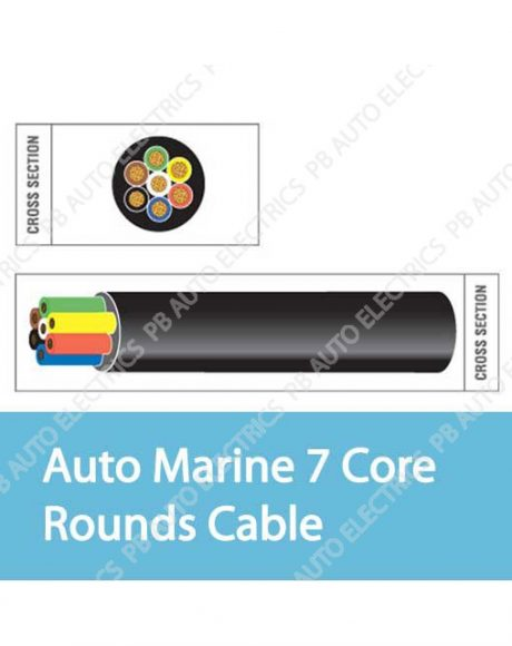 Auto Marine 7 Core Rounds Cable