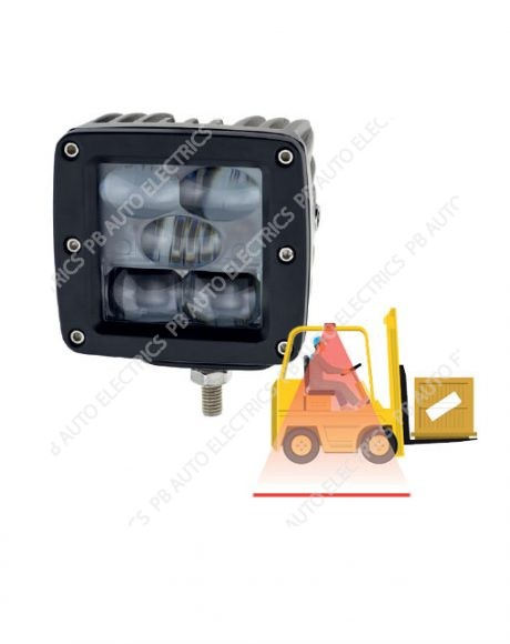 LAP Electrical Forklift & Material Handling Applications Red LED Safety Line Light 12v-80v - FKL15R-L