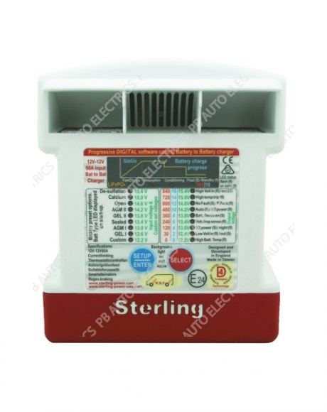 Sterling 12v In/12v Out 60A Input Battery to Battery Charger Non Waterproof (Drip Proof IP21) - BB1260
