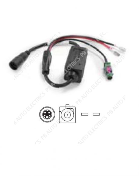 Brigade AC-24-12(002) In-Line 24/12v Volts Converter, ELITE Camera Cable to Fakra Mon Input (eg DC) - 4266