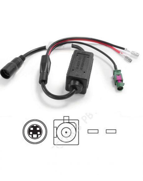 Brigade AC-24-12(002) In-Line 24/12v Volts Converter, ELITE Camera Cable to Fakra Monitor Input (eg DC) – 4266
