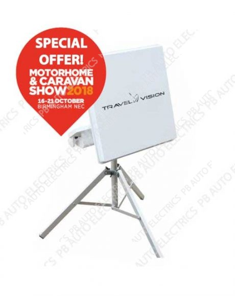 Travel Vision R7 Flat Automatic Portable Satellite Antenna System – 35-01-031-0