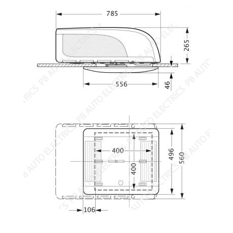 Truma Aventa Compact Air Conditioning Unit For Vans And Motorhomes Diagram