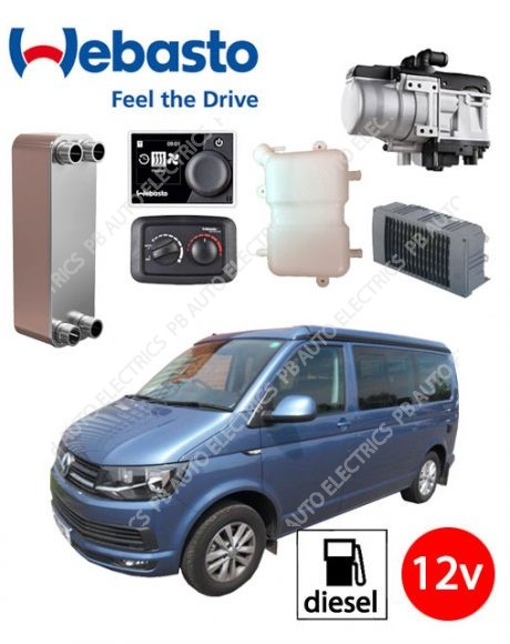 Webasto Thermo Top Evo RV VW Independant Water Heater Heating System With Plate Heat Exhanger System - PBTTEV