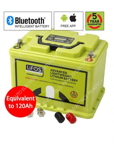 LIFOS 68Ah Advanced Premium Lightweight Lithium Battery