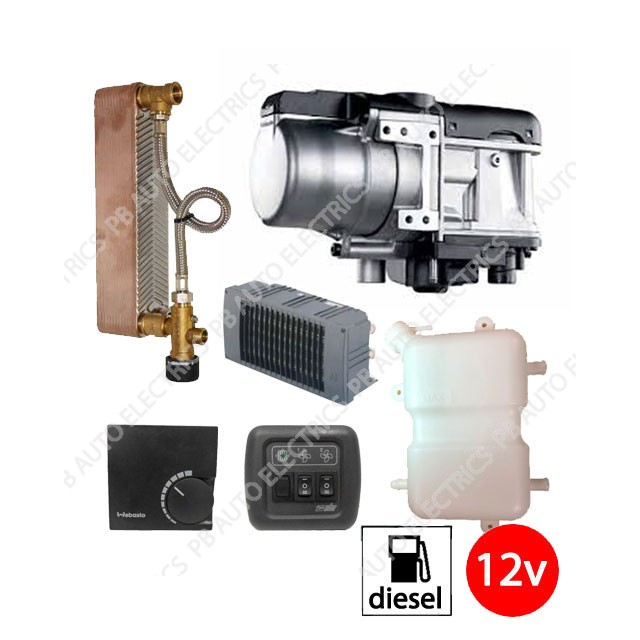 Webasto Entry Level Thermo Top Evo 5 RV Plate Kit With Blower And Grill on