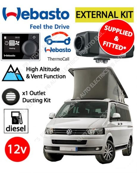 Webasto Air Top 2000 STC VW External Mount Air Heater Diesel 12v Multicontrol & ThermoCall & 1 Outlet Ducting Kit - PB4112565G/TC