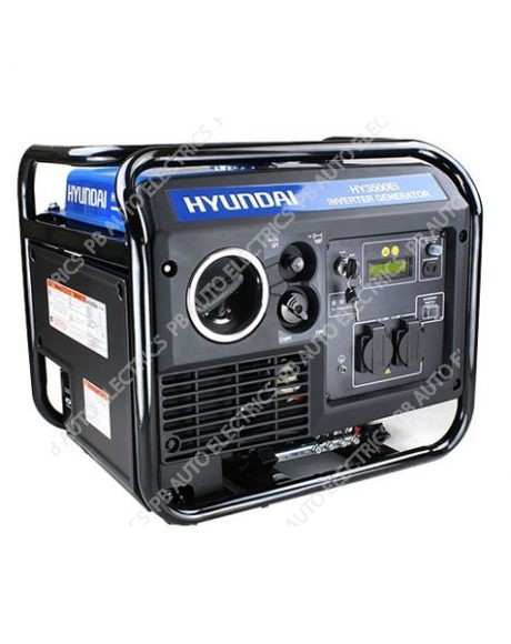 Hyundai HY3500Ei 3.3Kw Single Phase Electric Start-Inverter Generator - HY3500Ei