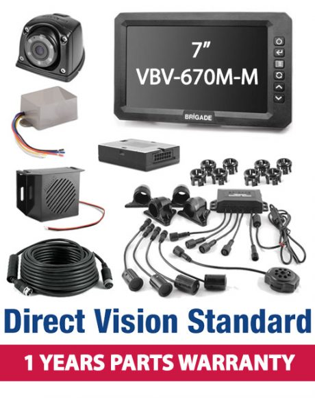 Brigade Direct Vision Standard Kit 4 - Includes Nearside Camera Kit And Nearside Sidescan Kit - DVK4