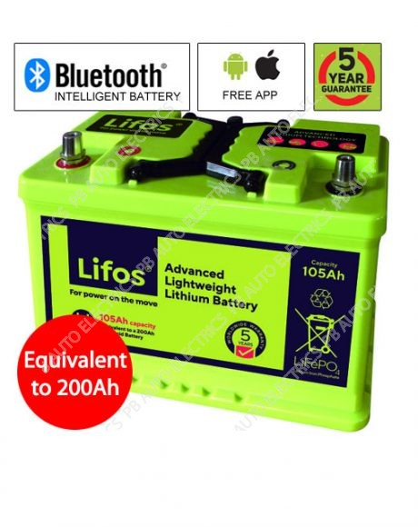 LIFOS 105Ah Advanced Premium Lightweight Lithium Battery