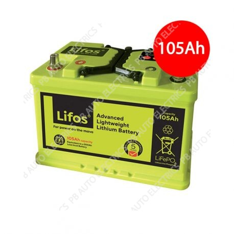Lifos Advanced Lightweight Lithium Power Battery 105Ah Capacity (equivalent to a 200Ah leisure lead acid battery)
