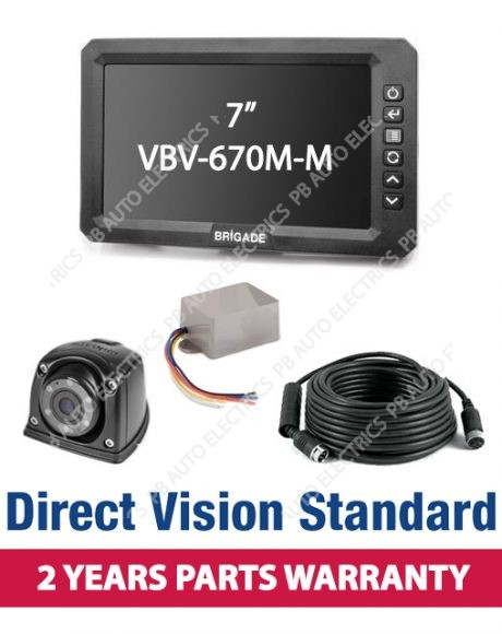 Brigade Direct Vision Standard Kit 1 - Includes Nearside Camera Kit And Left Turn Indicator Control - DVK1