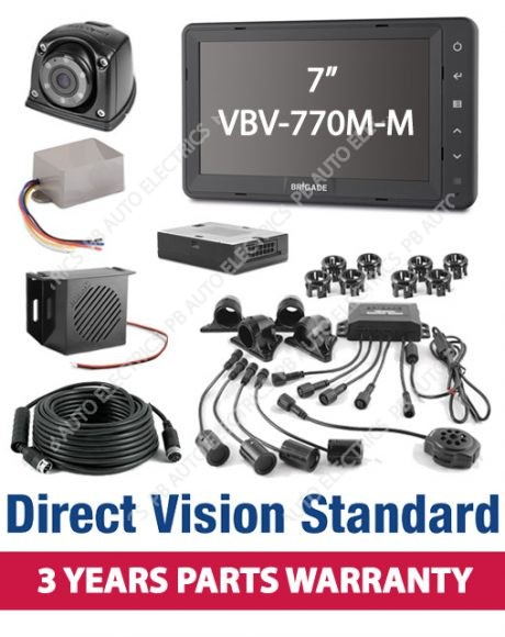 Brigade Direct Vision Standard Kit 5 Includes Nearside Camera Kit And Nearside Sidescan Kit - DVK5