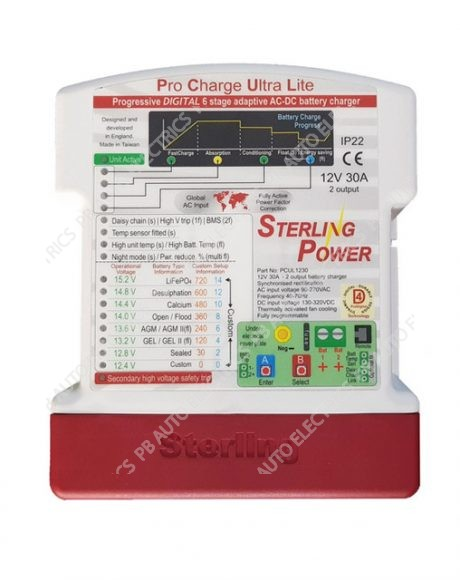 Sterling Power Pro-Charge Ultra Lite 12V 30A to DC Battery Charger - LPCU1230 [2 OUT]