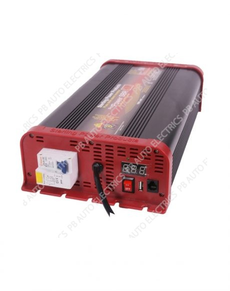 Sterling Power Pro-Power SB Pure Sine Wave Inverter With RCD & AC Cable 12V 1600W - SIBR121600