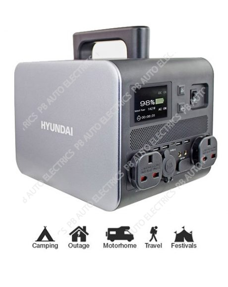 Hyundai HPS 600 Portable Power Station 500W (Continuous Power) 1000W (Peak-Power) - HPS-600