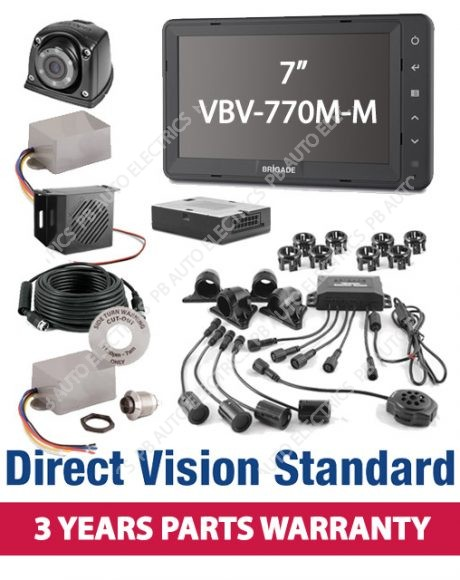 Brigade Direct Vision Kit 6 - DVS Compliant Camera And Side Detection System For Rigid Vehicles - DVS-SS-01