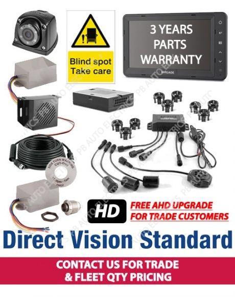 Brigade Direct Vision Kit 7 - DVS Compliant Camera And Side Detection System For Tractor Units - DVS-CS-01 (6076T - was p/n 6078)