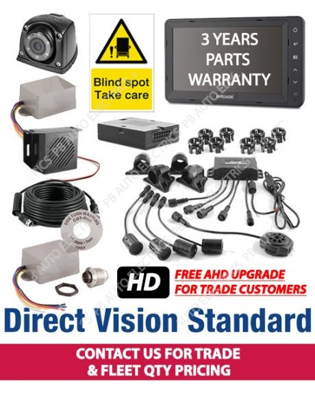 Brigade Direct Vision Kit 6 - DVS Compliant Camera And Side Detection System For Rigid Vehicles - DVS-SS-01 (6076)