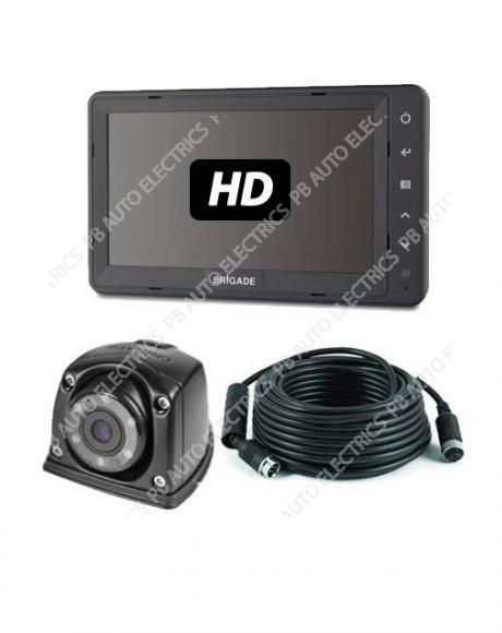 Brigade Single AHD Flush Side Mount Camera Monitor System For Vans - VBV-770H-3100 (6113)