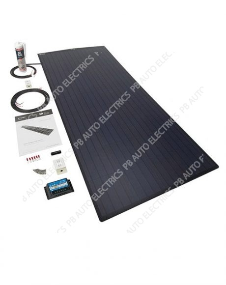 150 Watt BLACK PV Logic Flexi Roof Top Kit Inc 15A MPPT Controller With Rear Exit Cable - STPVFRT150RBPT
