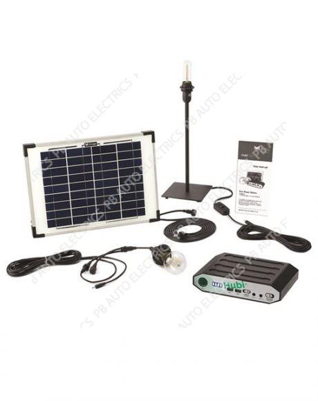 Hubi Retro 2 LED Filament Bulb Solar Light Kit With 10 Watt Solar Panel - STVH002