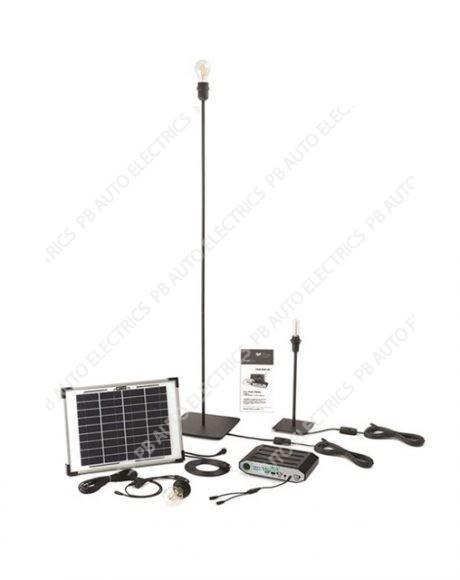 Hubi Retro 3 LED Filament Bulb Solar Light Kit With 10 Watt Solar Panel - STVH003