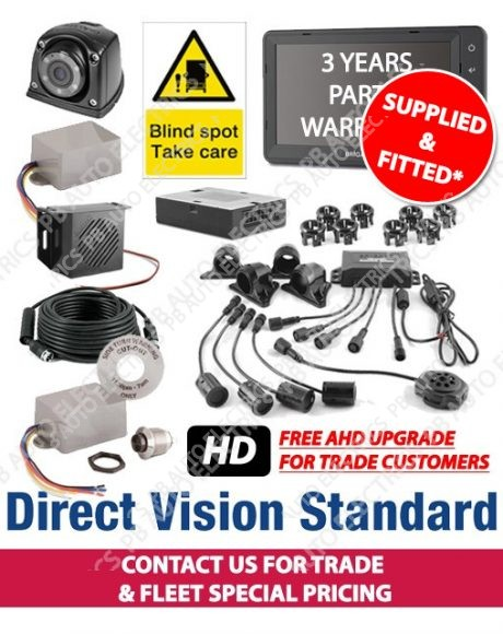 Brigade Direct Vision Kit 6 - DVS Compliant Camera And Side Detection System For Rigid Vehicles - Supplied And Fitted