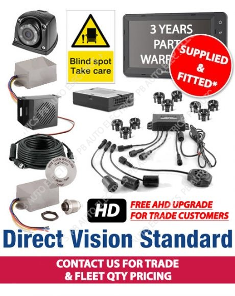 Brigade Direct Vision Kit 7 DVS Compliant Camera And Side Detection System For Tractor Units Supplied And Fitted