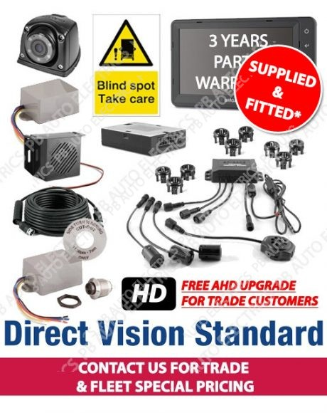 Brigade Direct Vision Kit 7 - DVS Compliant Camera And Side Detection System For Tractor Units - Supplied And Fitted